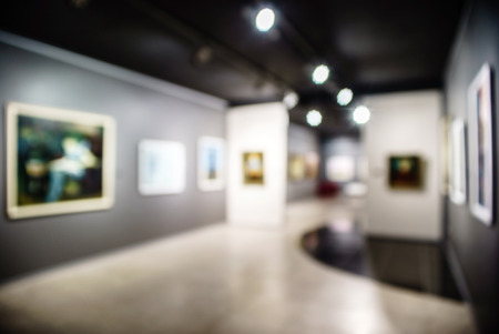 Blurred art gallery