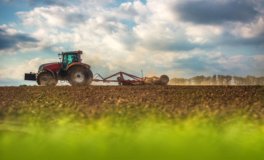 Tractor Plowing Scenic Farm Field in Woodward, OK